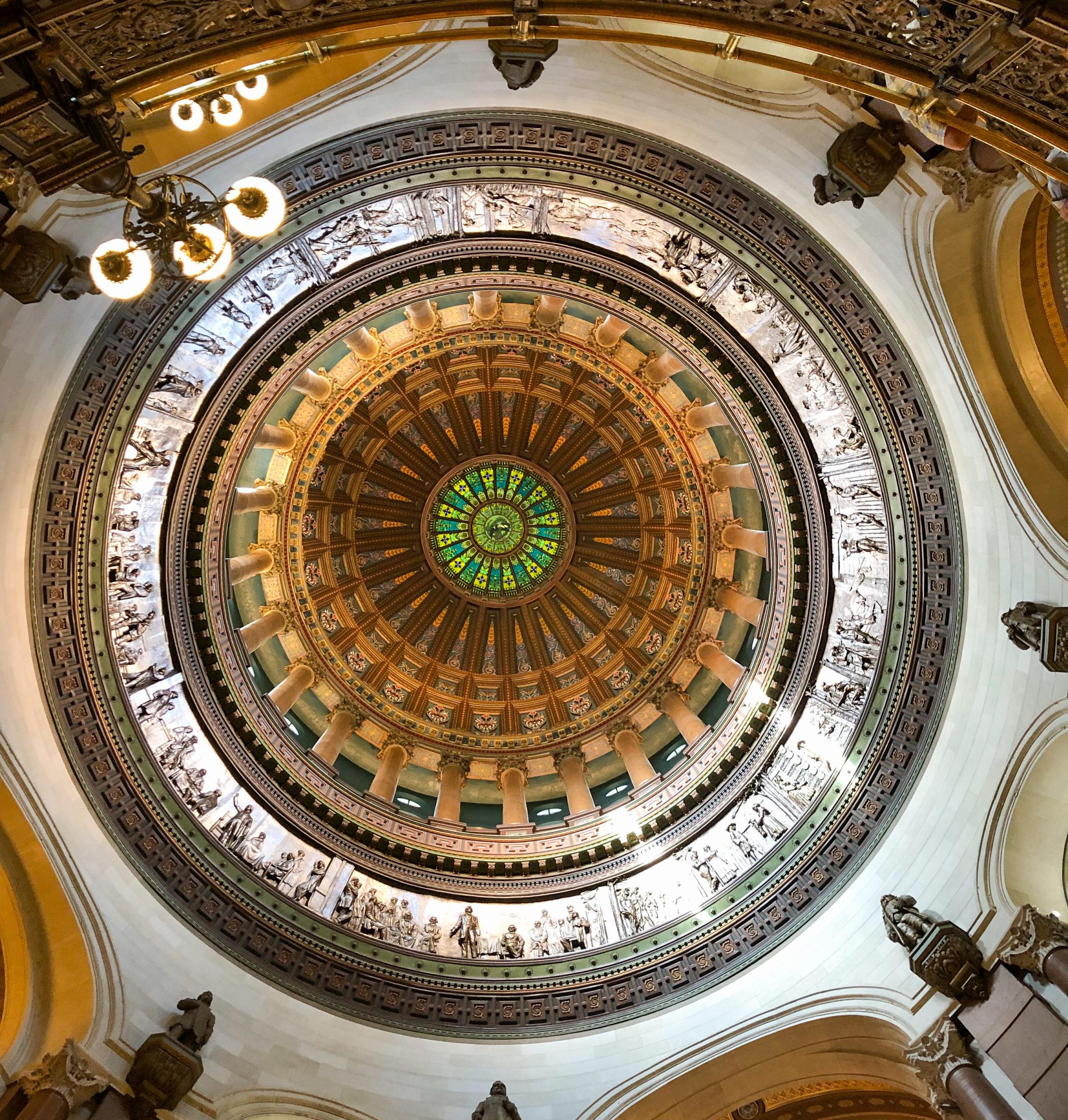 Die Kuppel des State Capitol in Springfield, Illinois, wo Abraham Lincoln Rechtsanawalt war
