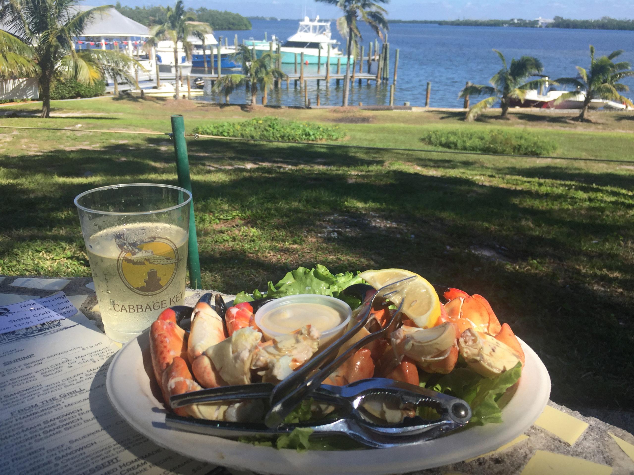 Stone Crab sind die große Spezialität auf Cabbage Key