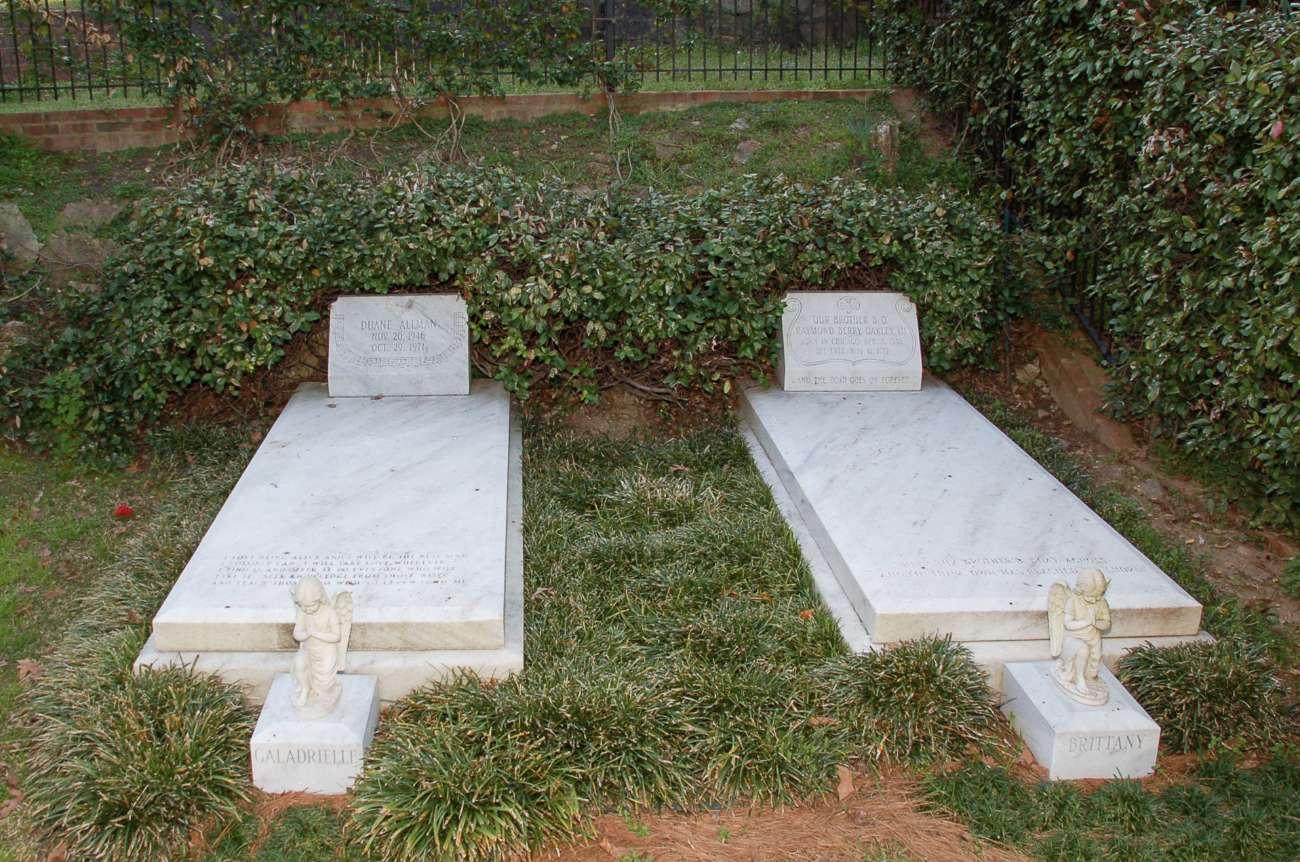Das Grab von Rockstar Duane Allman in Macon im US-Bundesstaat Georgia
