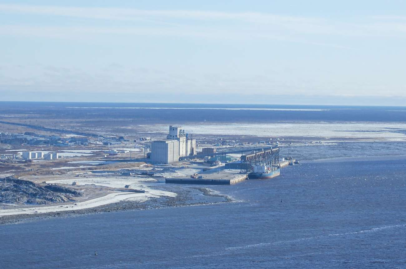 Anflug auf Churchill in der kanadischen Provinz Manitoba.