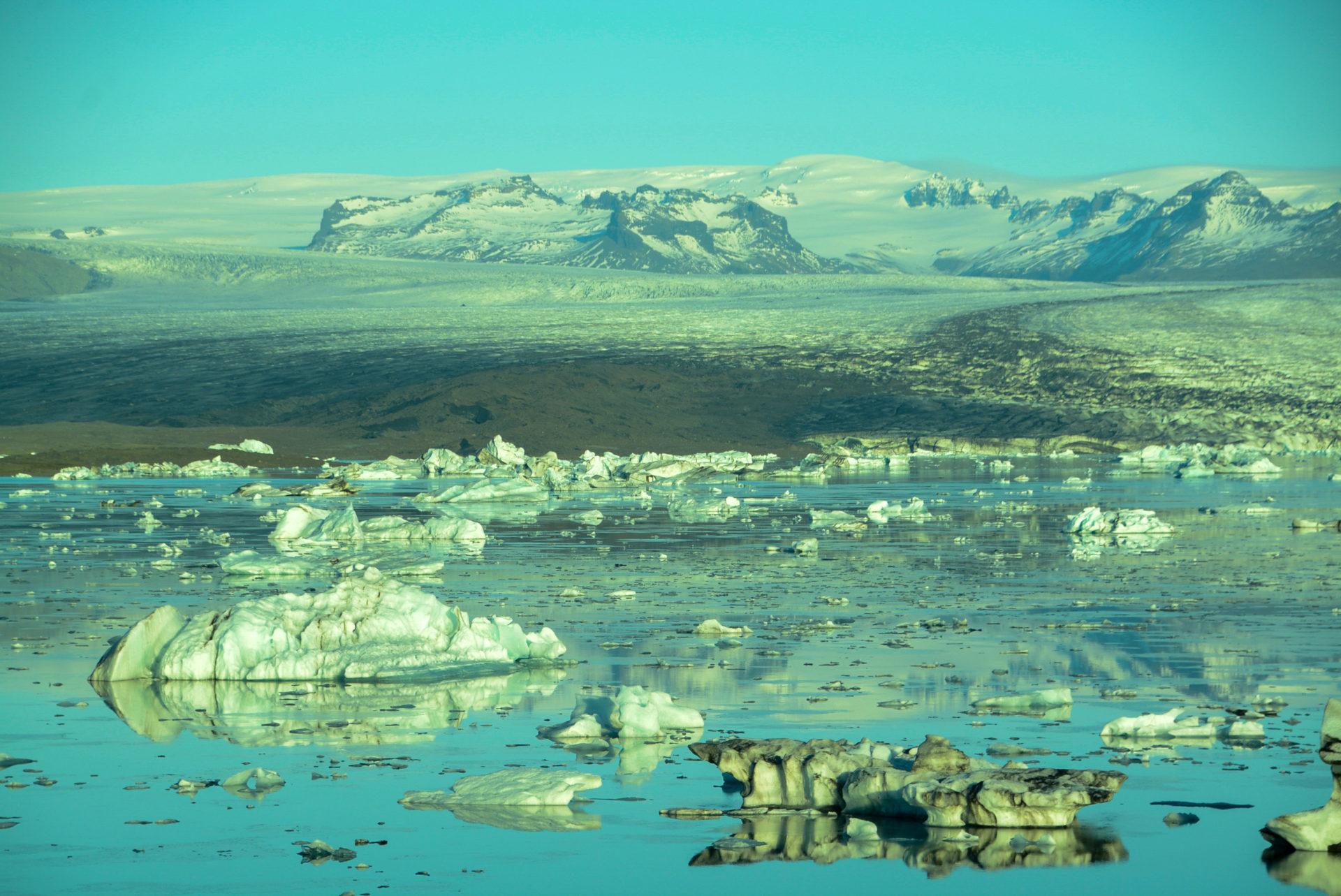 Eisberge und Gletscher in Iceland