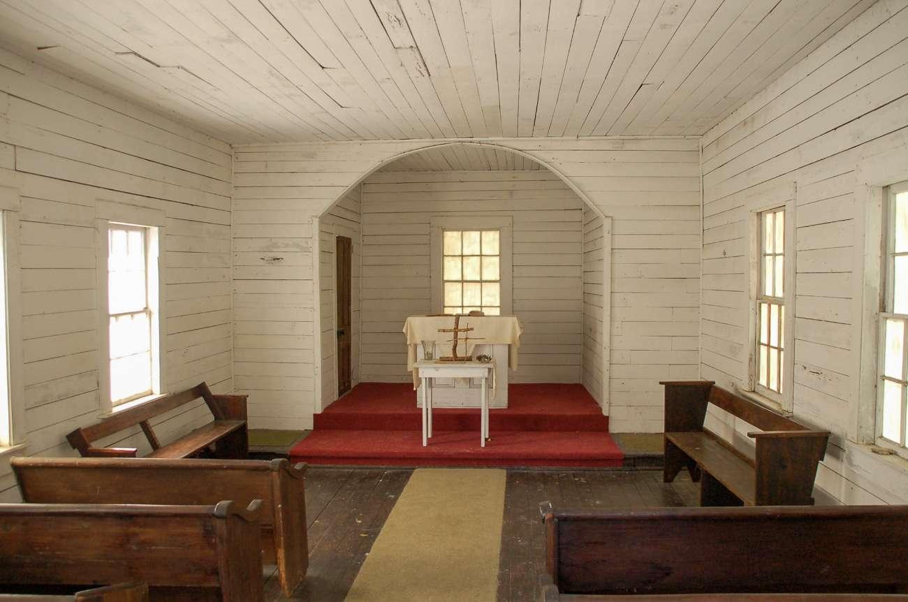 Die Kapelle auf Cumberland Island, in der John F. Kennedy Junio geheiratet hat