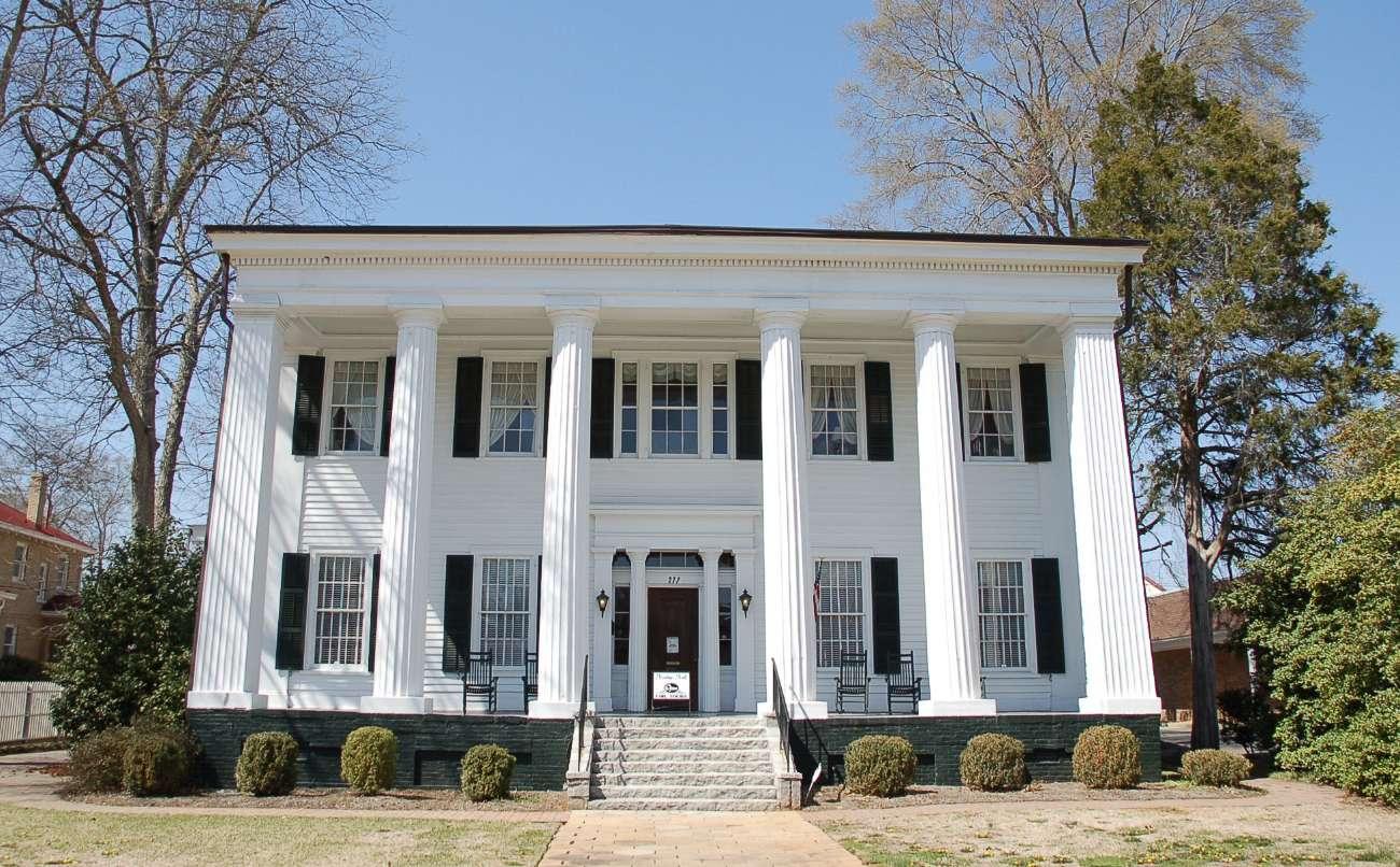 Klassizistische Villa in Macon im US-Bundesstaat Georgia