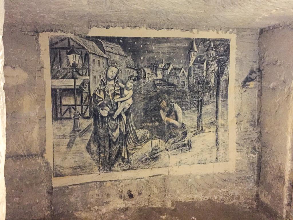 Malereien in den Grotten am Sint Pietersberg in Maastricht