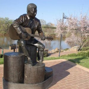 Statue von Otis Redding in Macon, Georgia