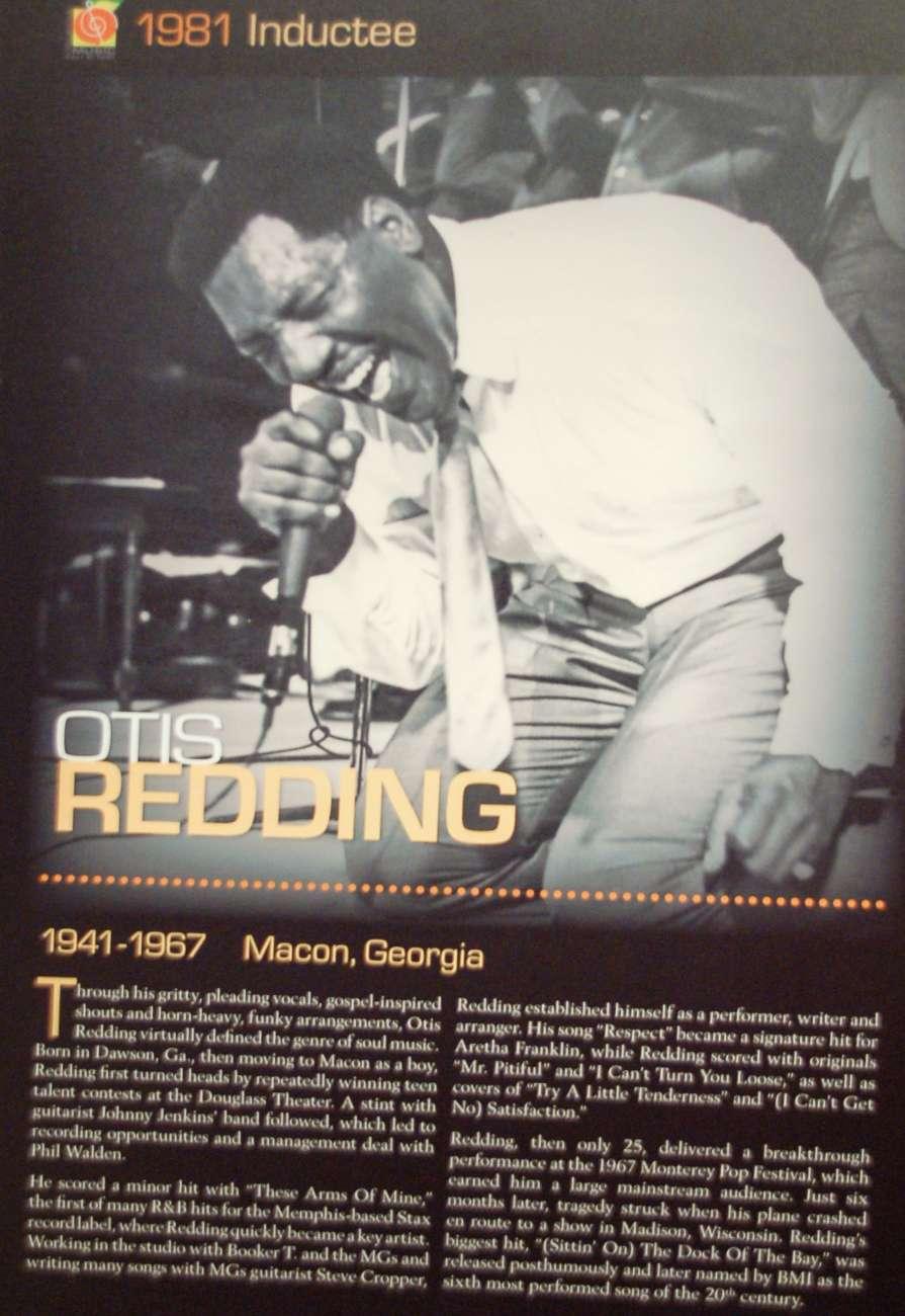 Otis Redding kam aus Macon im US-Bundesstaat Georgia
