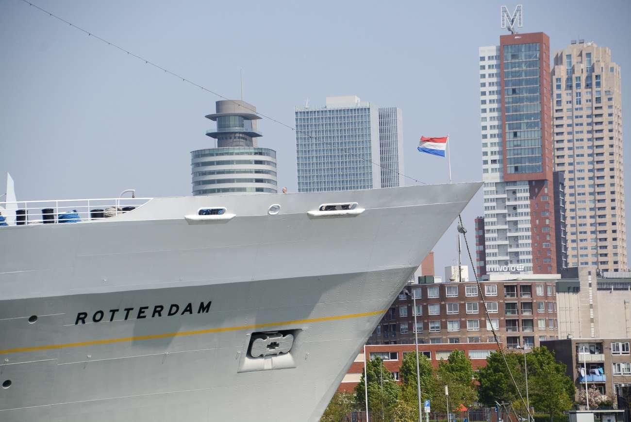 Am Kop van Zuid in Rotterdam schießen die Wolkenkratzer in die Höhe. Hier ist die Metropole an der Maas greifbar.