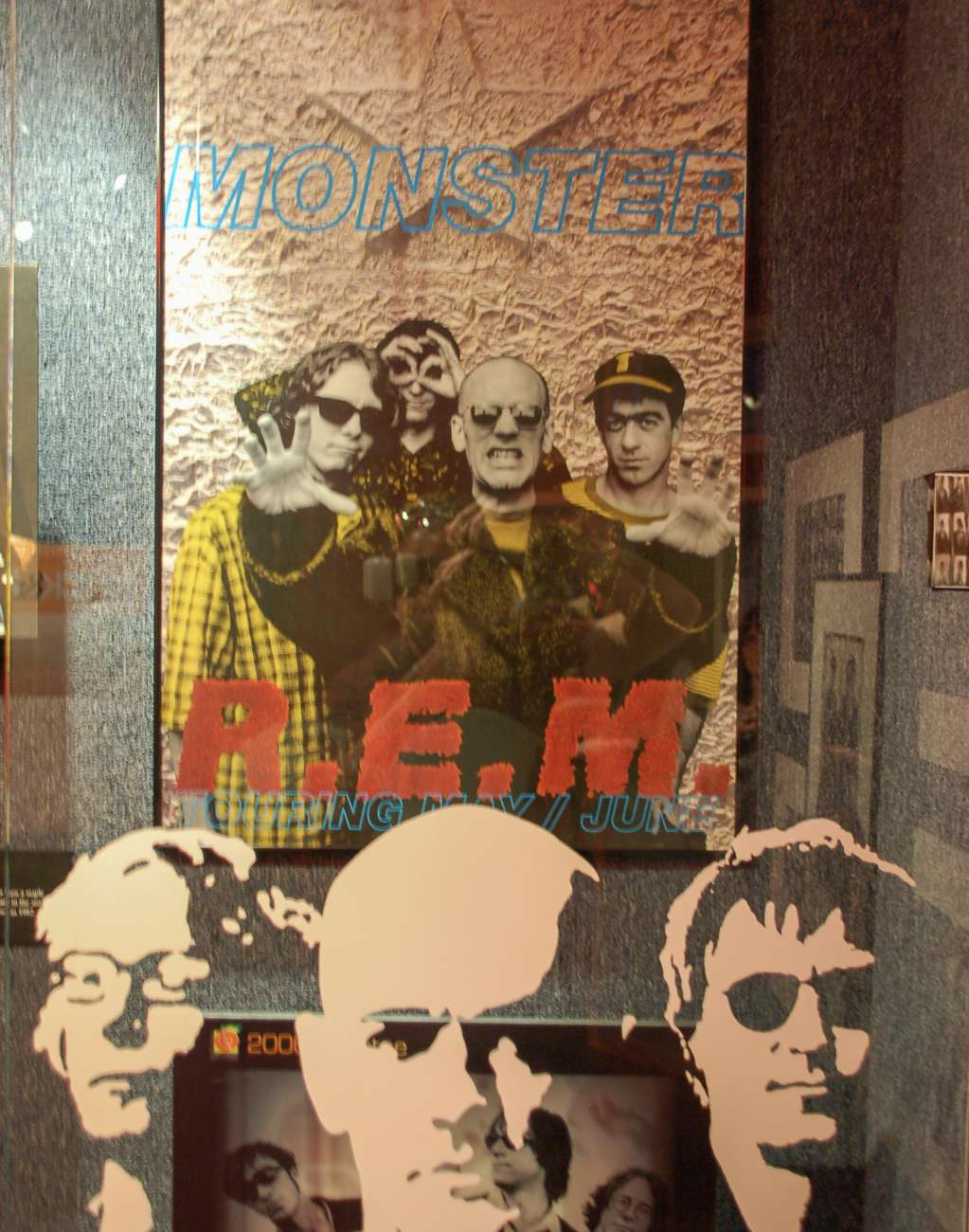 Die Band REM aus Athens in der Georgia Music Hall of Fame