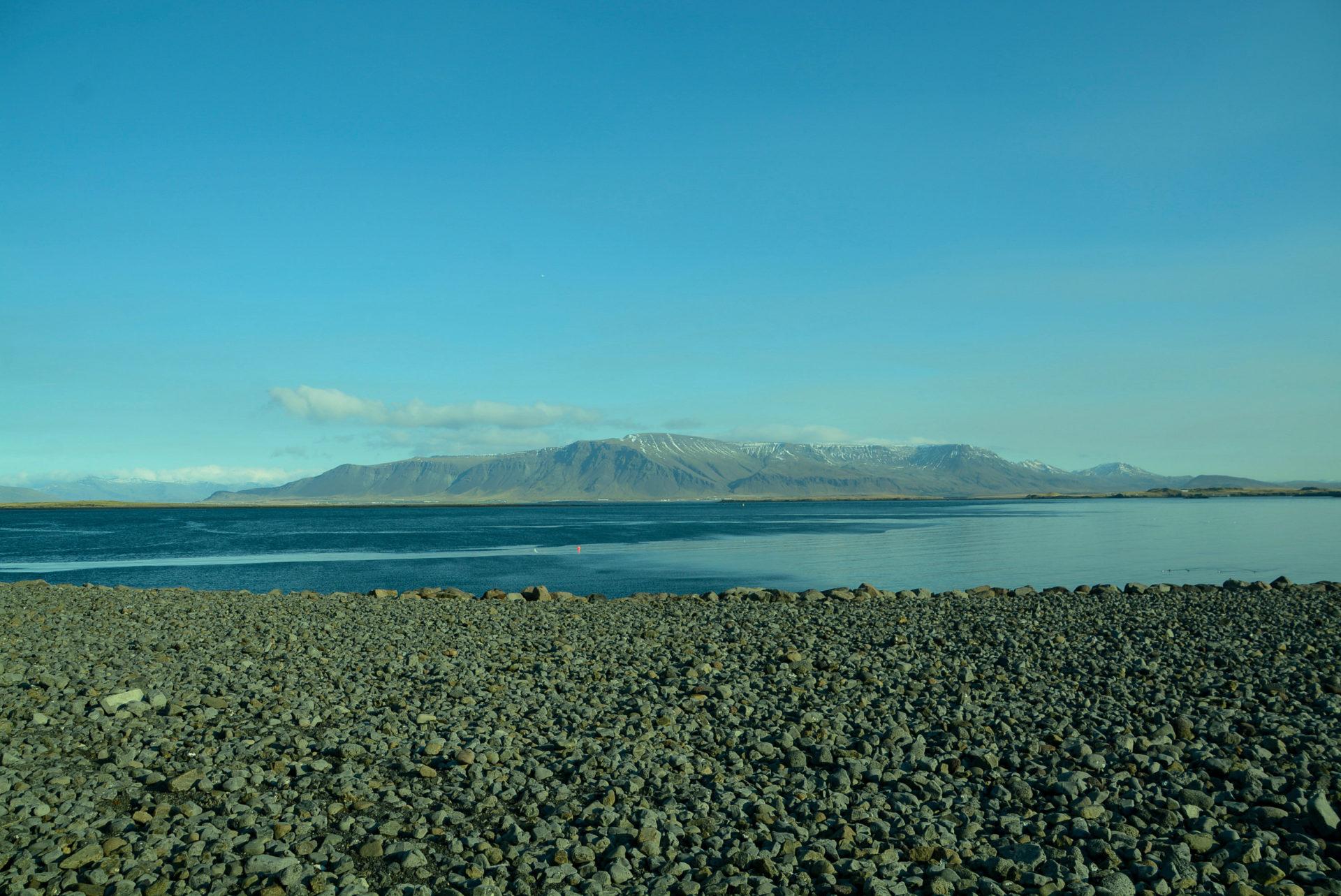 Die Bucht von Reykjavik ist der Ausgangspunkt für die Route durch den Golden Circle in Island