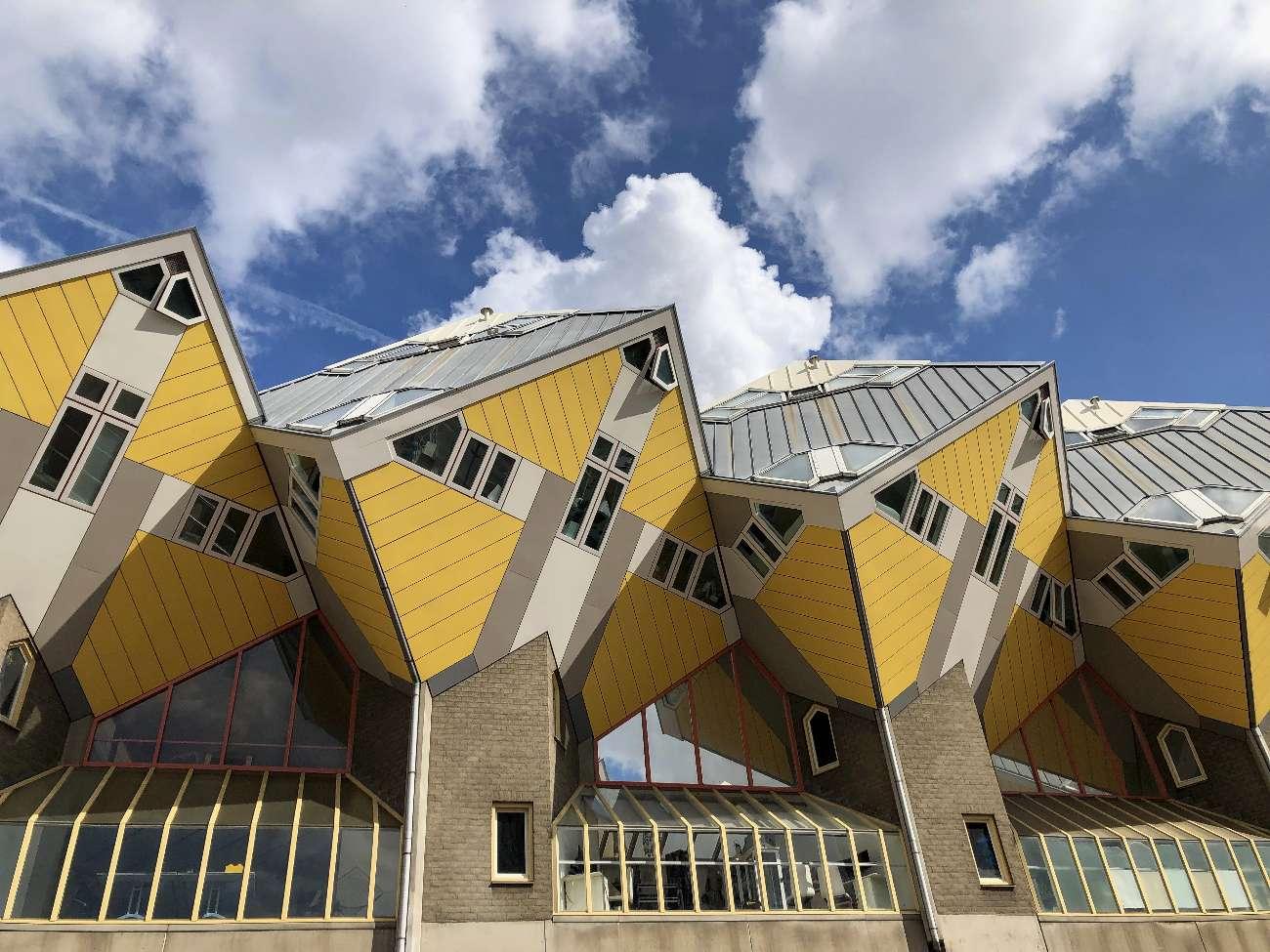 Die Kubuswohnungen von Piet Blom in Rotterdam