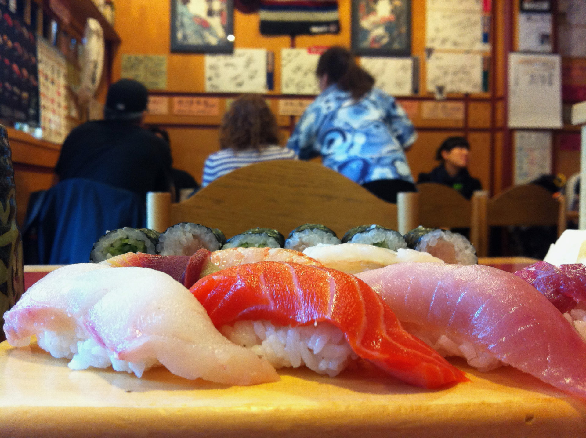 Sushi am Zielort des Rocky Mountaineer in Vancouver