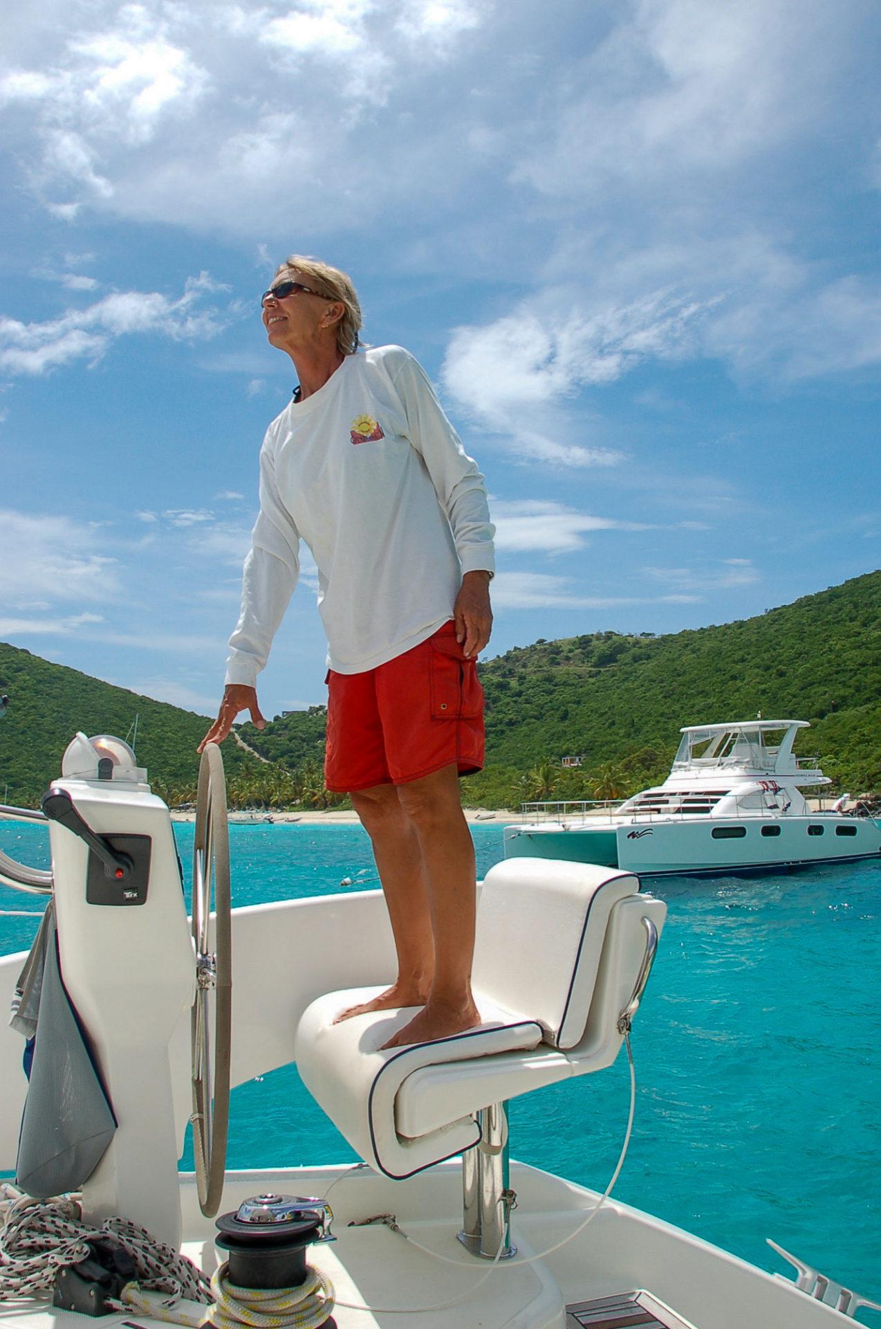 Captain Debbie auf dem Weg nach Sandy Spit auf den BVI