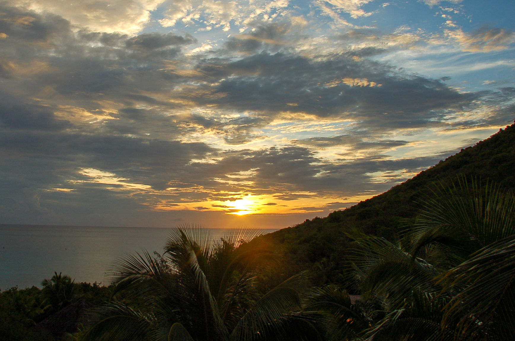 Sonnenuntergang beim Segeln auf den British Virgin Islands