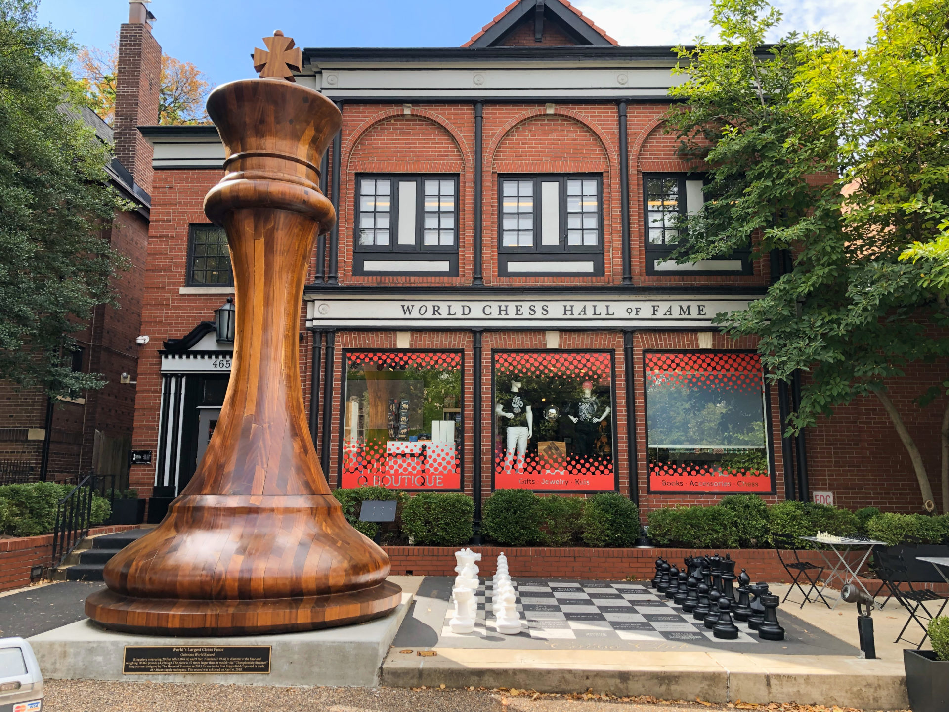 Die World Chess Hall of Fame in Central Park West in Saint Louis