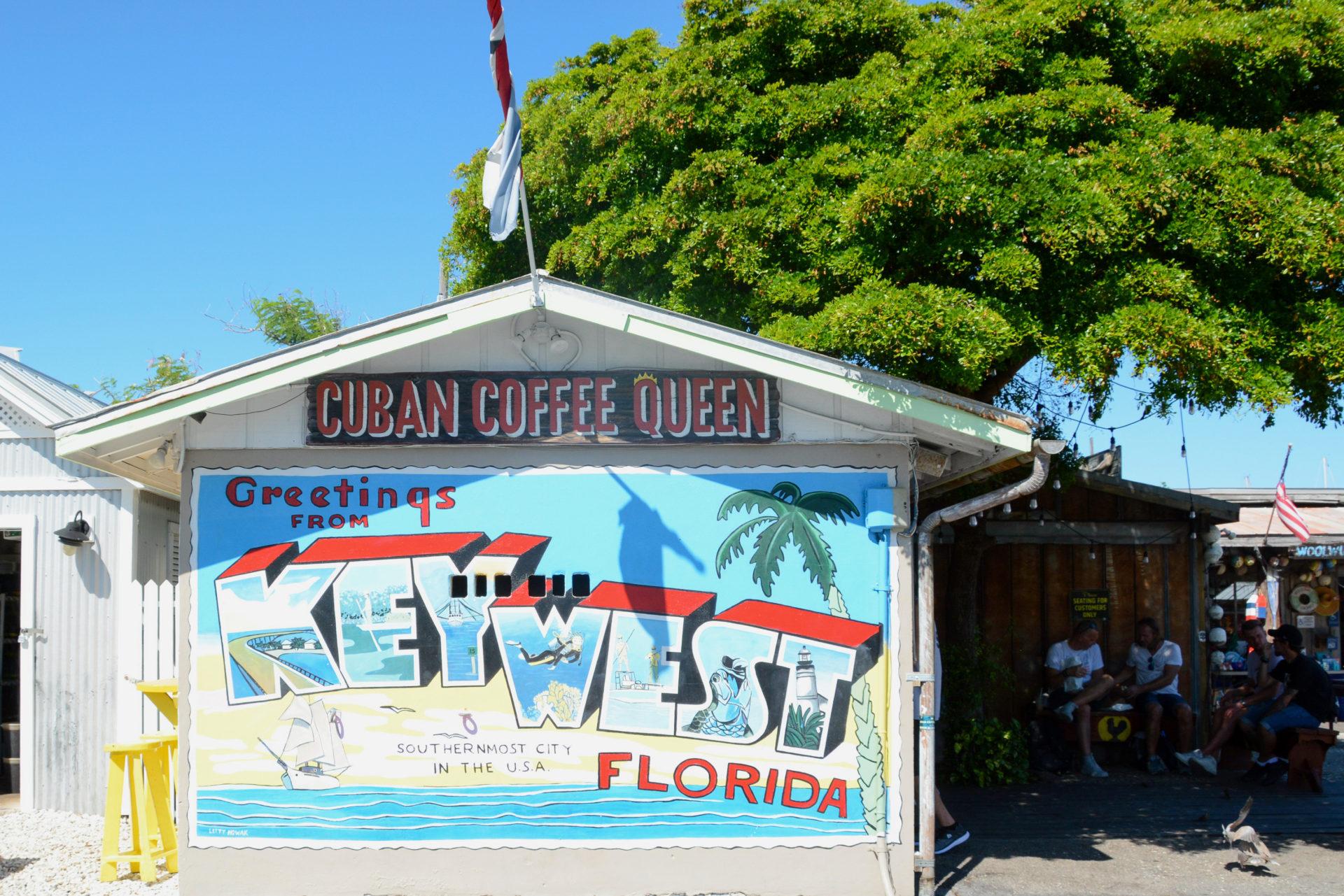 Das Lokal Cuban Coffee Queen ist ein Zwischenstopp bei der Fahrradtour durch Key West