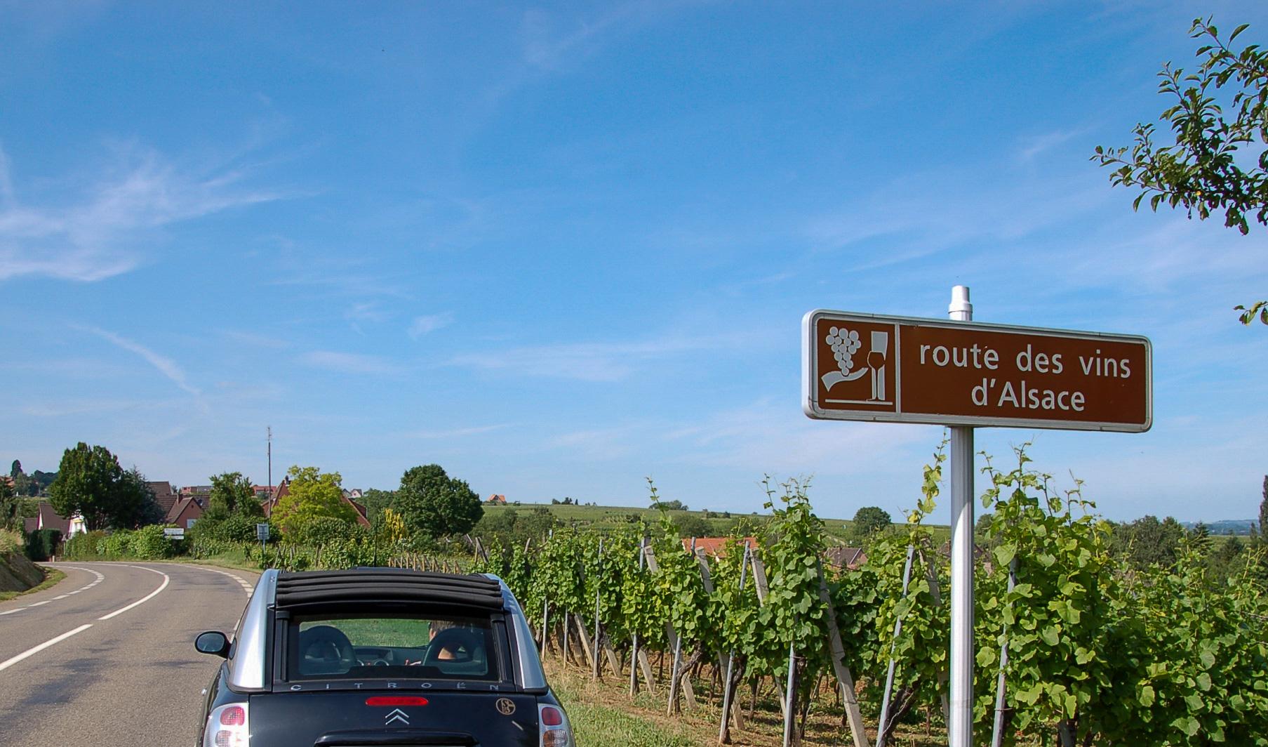 Raod Trip über die Elsässer Weinstraße im Citroen C3 Pluriel Cabrio im Winberg