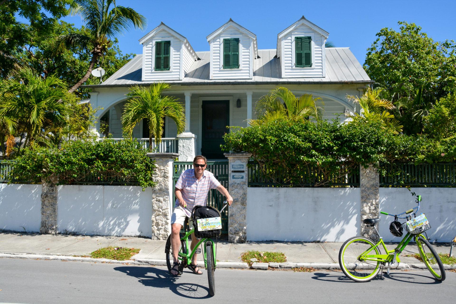 Autor Ralf Johnen bei der Fahrradttour durch Key West