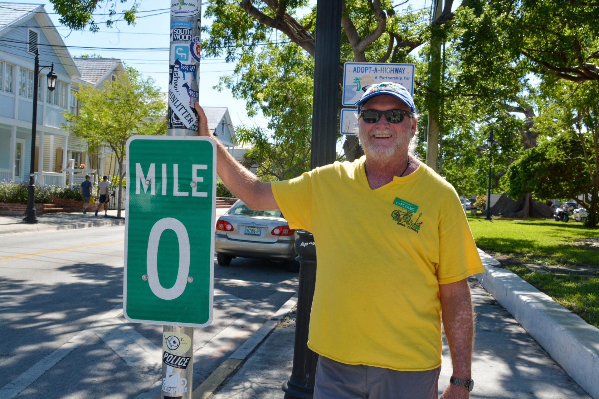 Captain Craig von Key West Bike Tour ist ein Garant für Anekdoten über Hemingway und Havanna