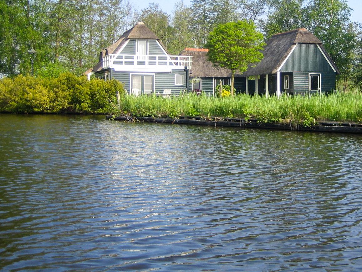 Ferienpark in Giethoorn in der niederländischen Provinz Overijssel