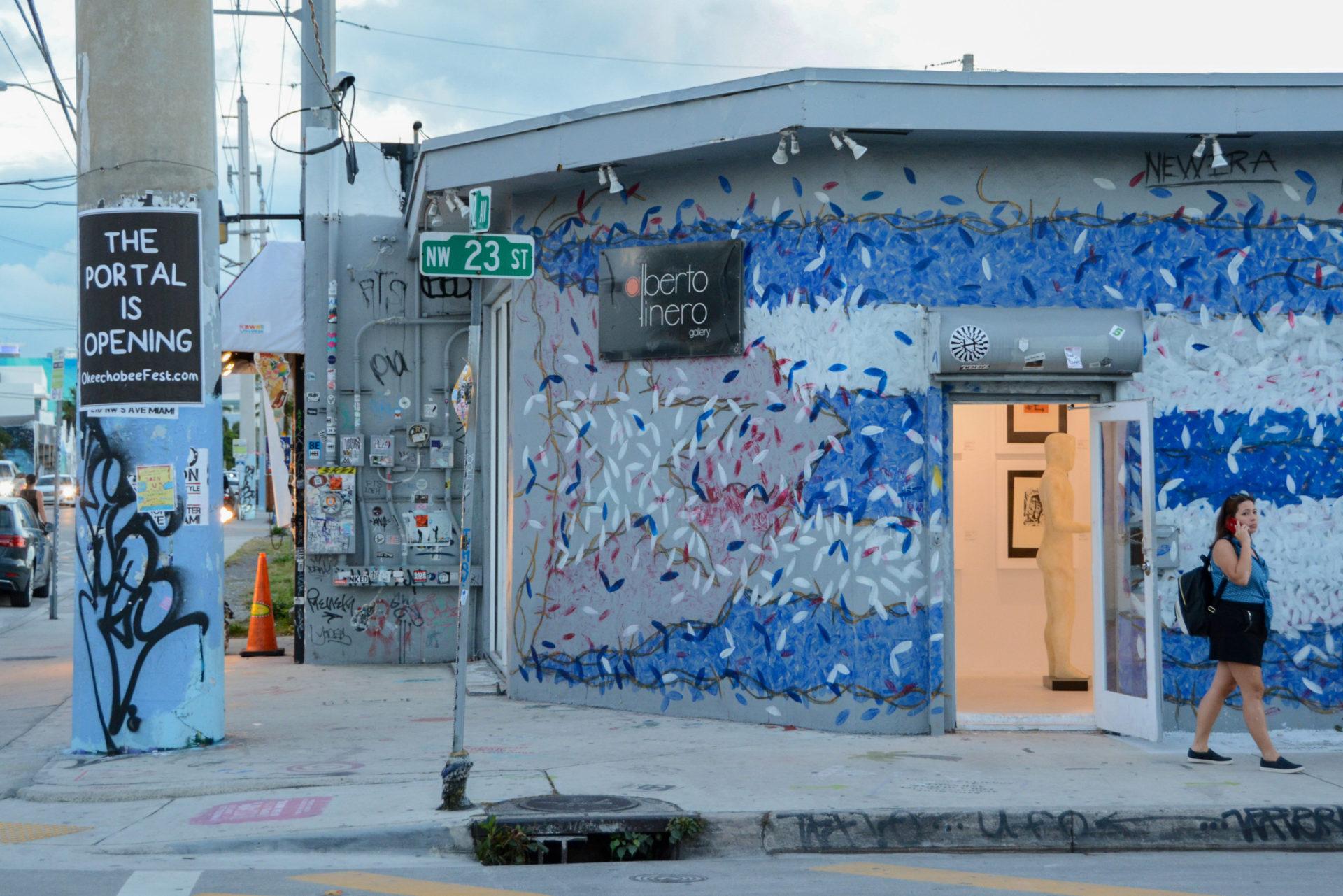 Die Galeria Alberto Linero in Miamis hippem Stadtteil Wynwood