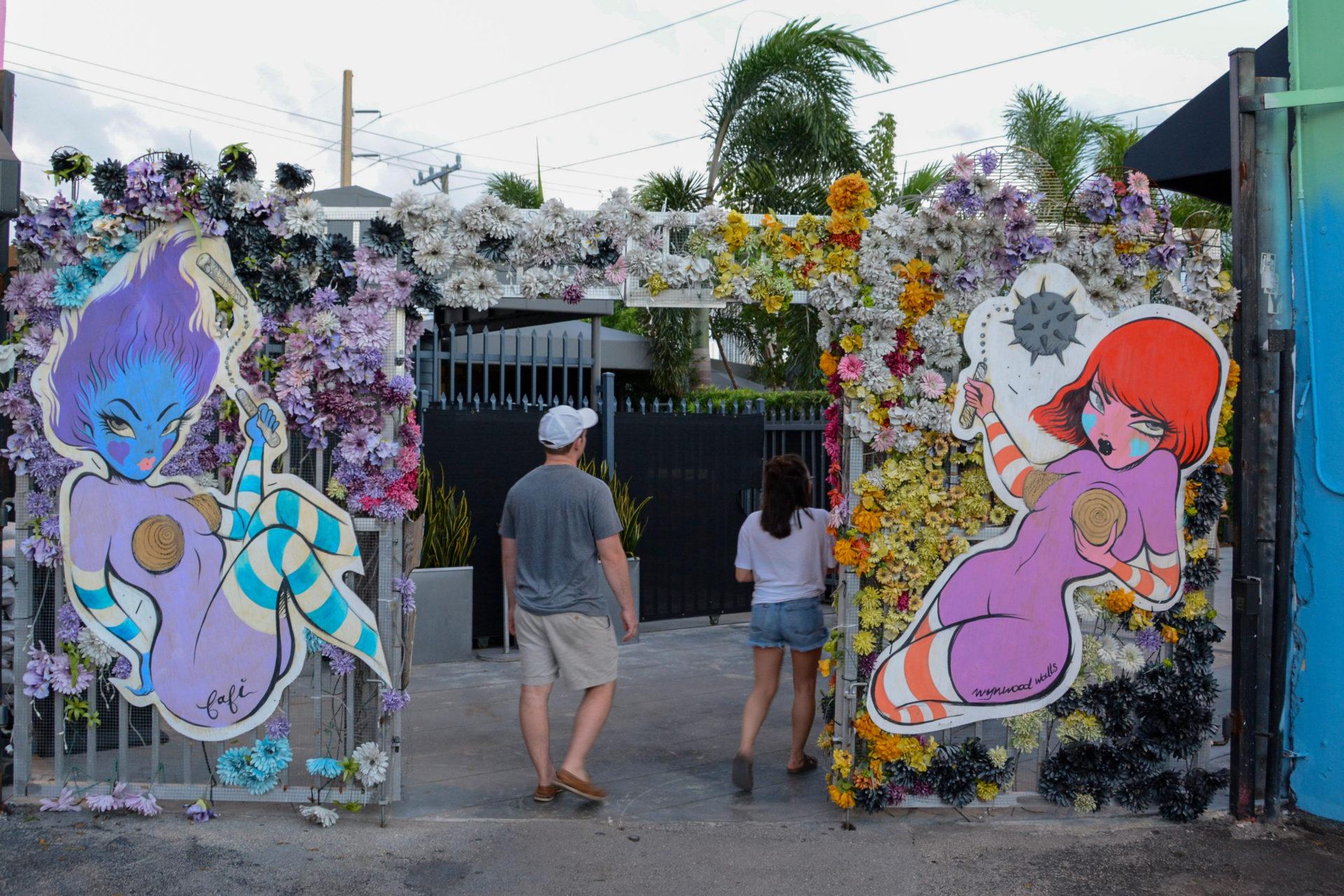 Eingang zu den Wynwood Walls in Wynwood, Miamis hipper Stadtteil