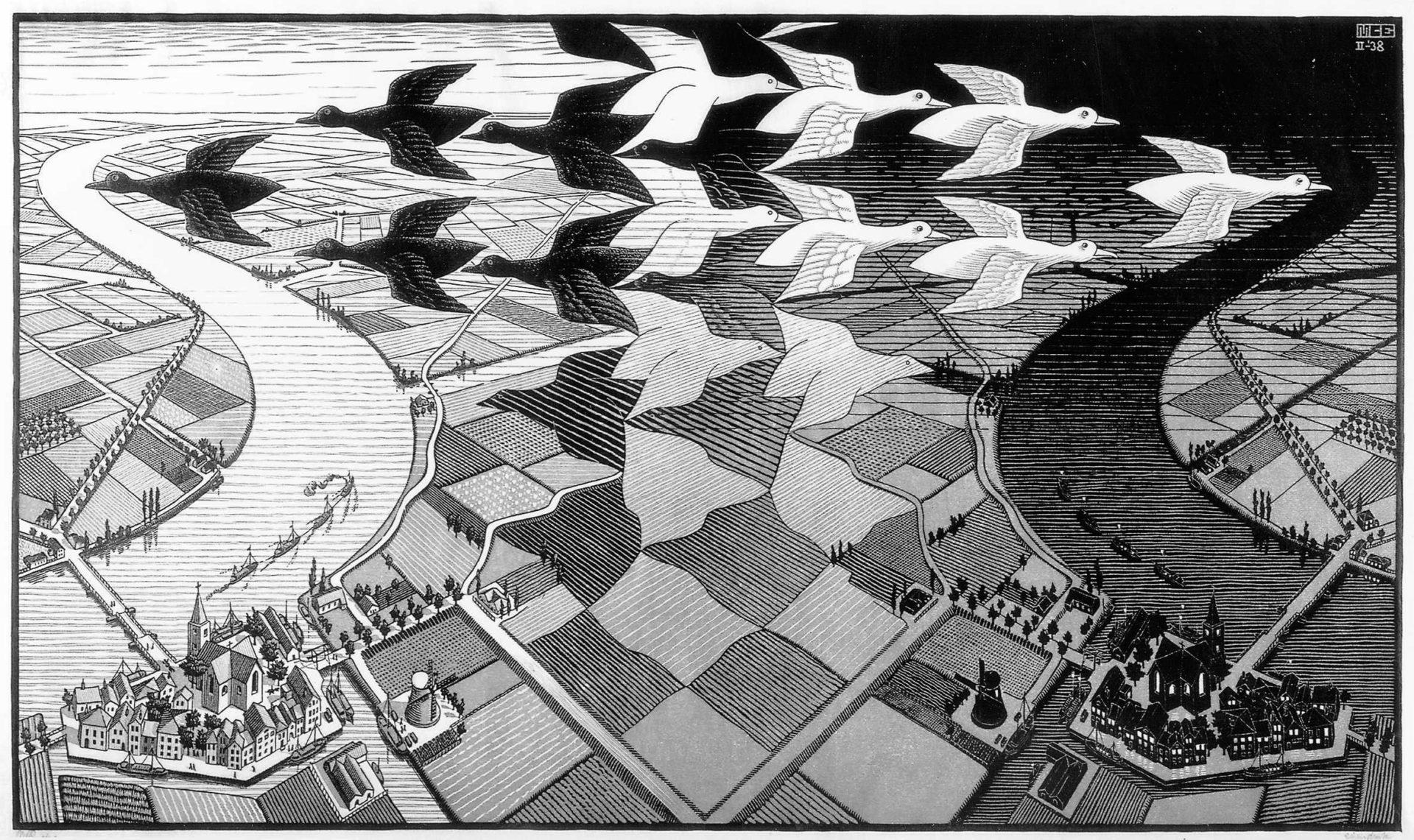 Kunstwerk von M.C. Escher im coolsten Museum in Den Haag