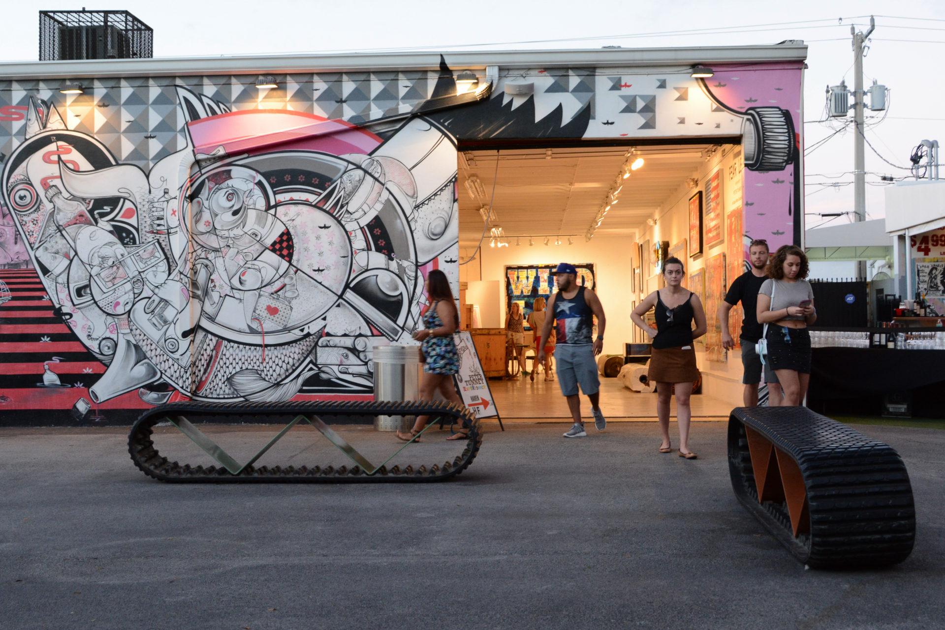 Galerie von Peter Tunney in Wynwood in Miamis Stadtteil Wynwood