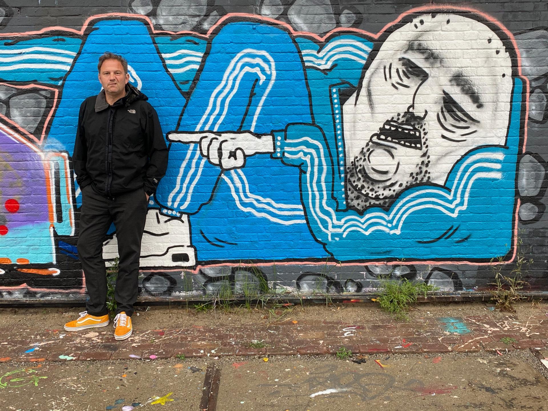 Street Art mit deillusioniertem Autor