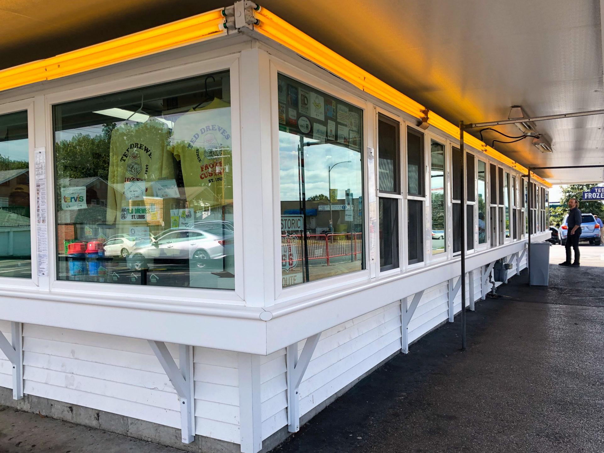 Das Restaurant Ted Drewes Frozen Custard ist ein Muss an der Route 66 in Saint Louis