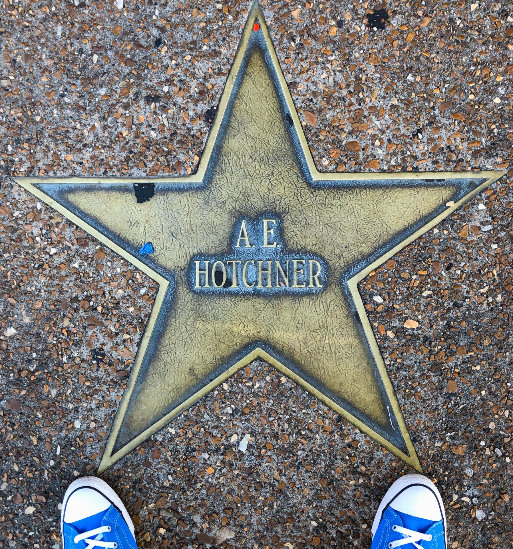A.E. Hotchner Stern am Walk of Fame im Delmore Loop