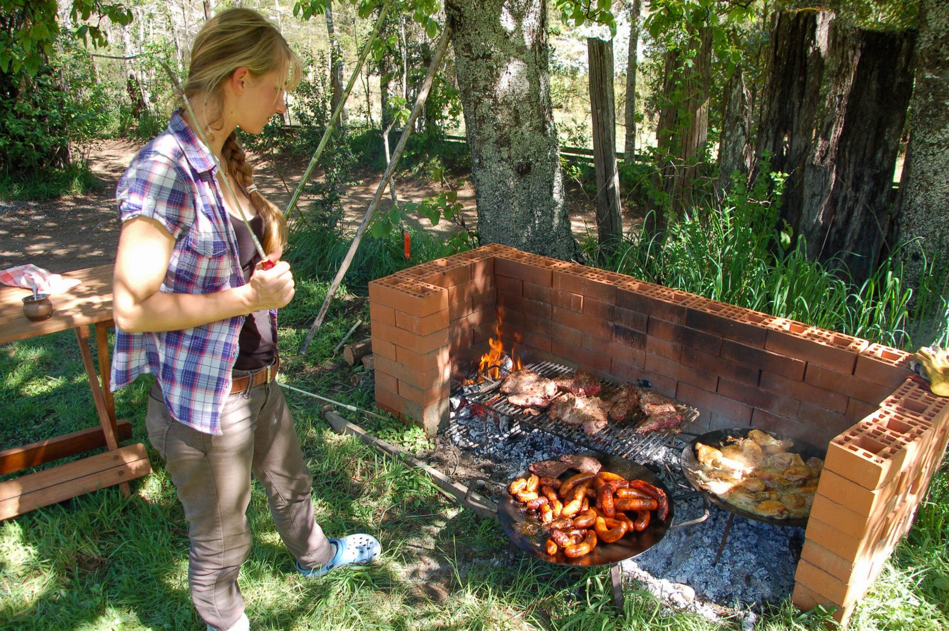 Barbecue nach einem Ausritt im chilenischen Patagonien
