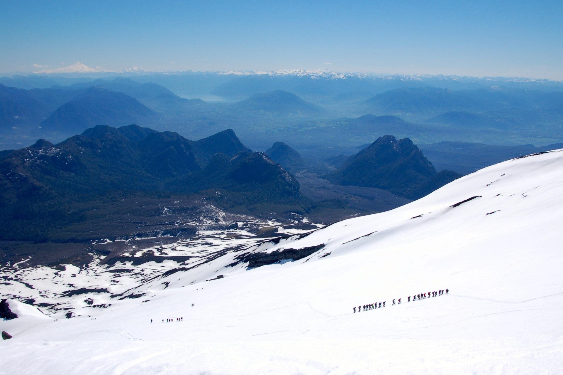 Besteigund es Vulkans Villarrica in Patagonien