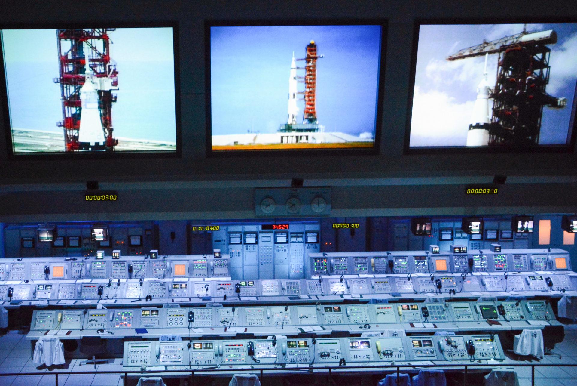 Medienzentrale der Nasa im Kennedy Space Center