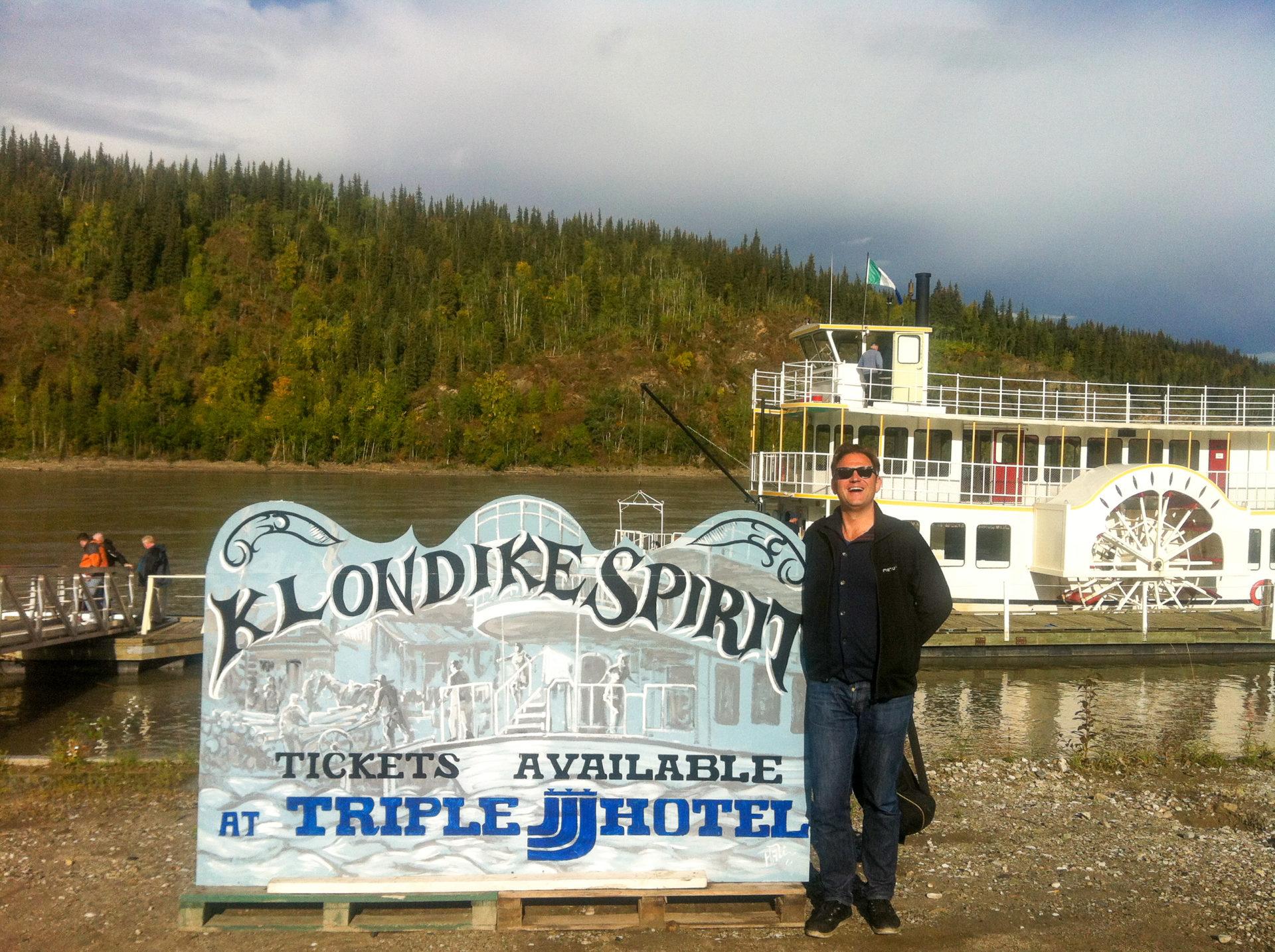 Autor Ralf Johnen in Dawson City