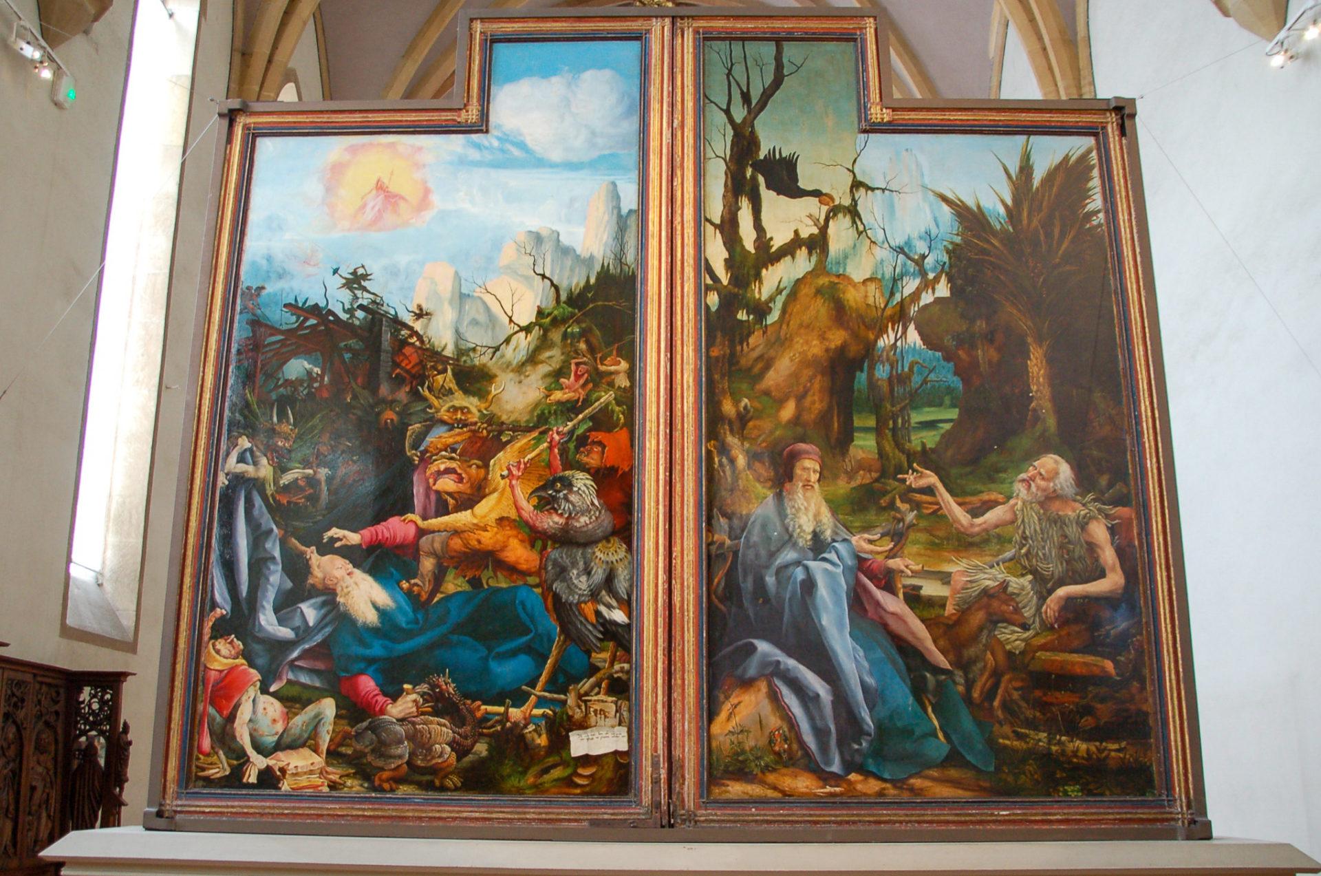 Diptychon in einer Kirche im Elsass