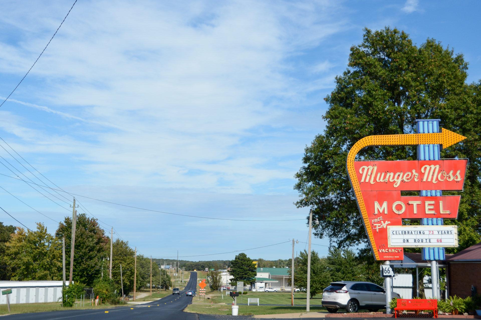 Das Munger Moss Motel bei Cuba in Missouri an der Route 66