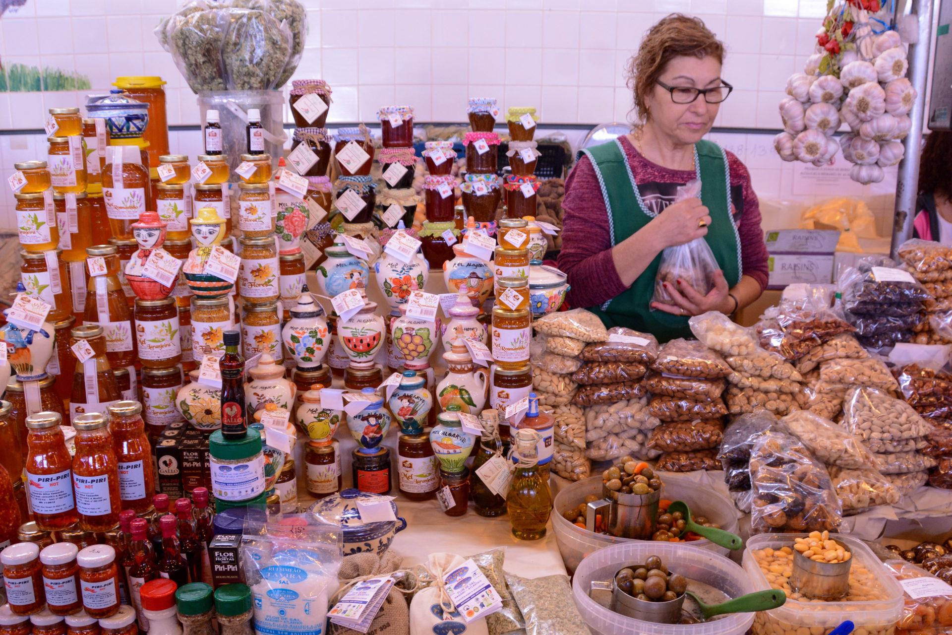 Markt in Olhão in Portugal