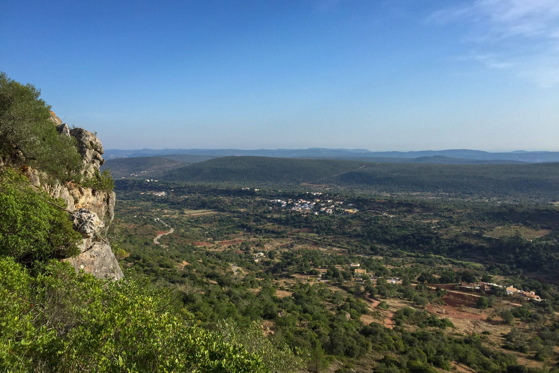 Blick vom Rocha da Pena an der Algarve