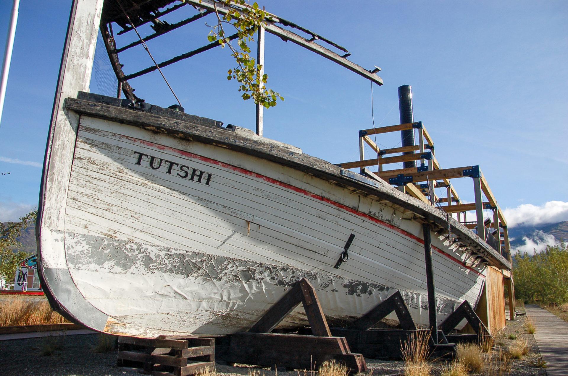 Schiffswrack in Carcross Desert