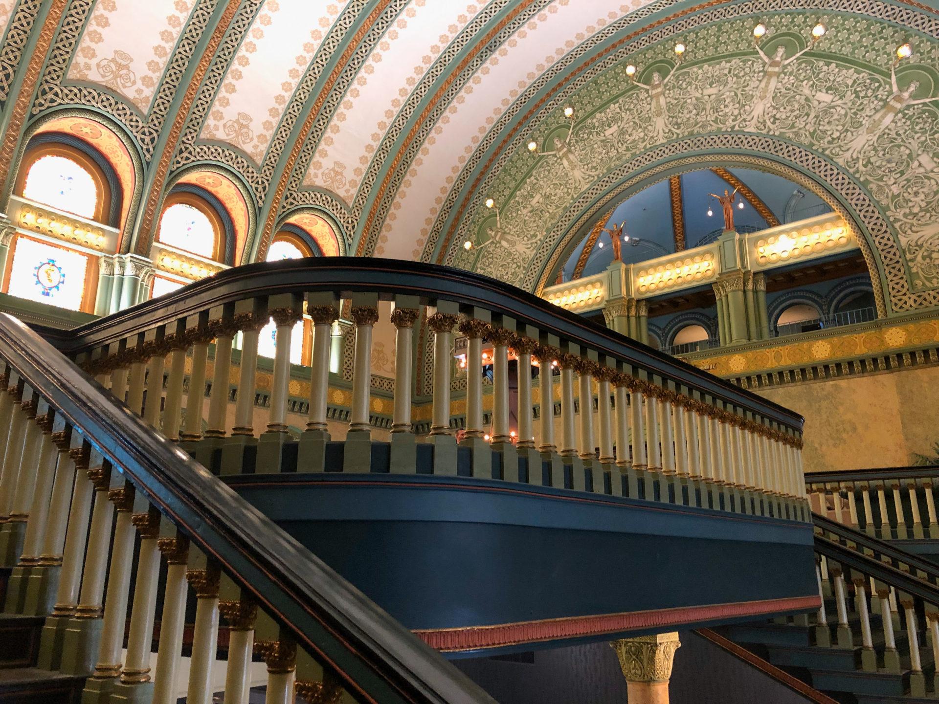 Treppen in der Empfangshalle der Union Station in St. Louis