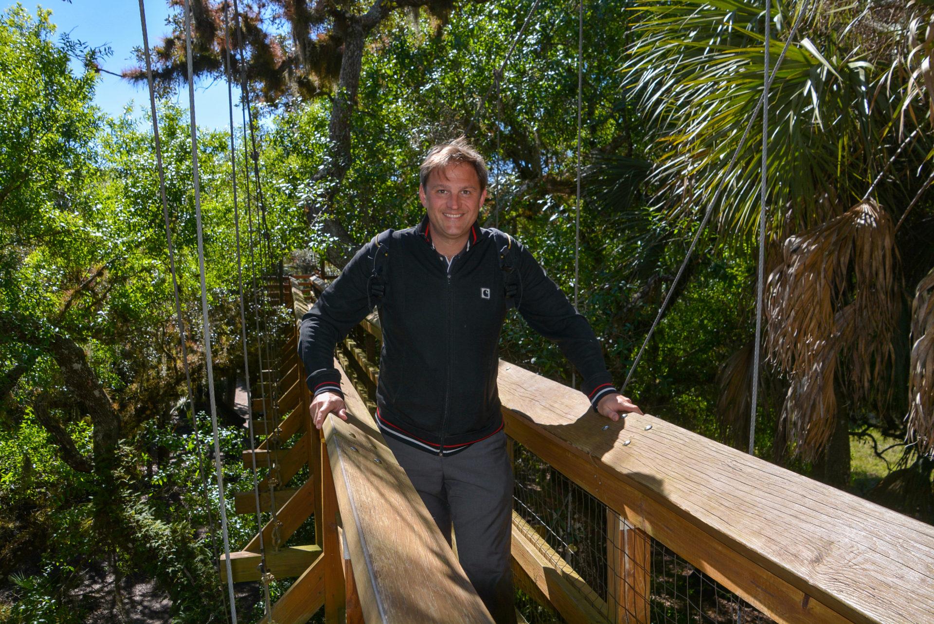 Autor Ralf Johnen auf dem Canopy Walk im Myakka River State Park