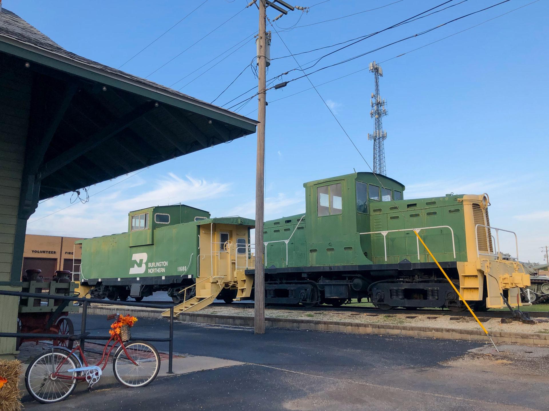 Alte Eisenbahn in Galena an der Mother Road in Kansas.