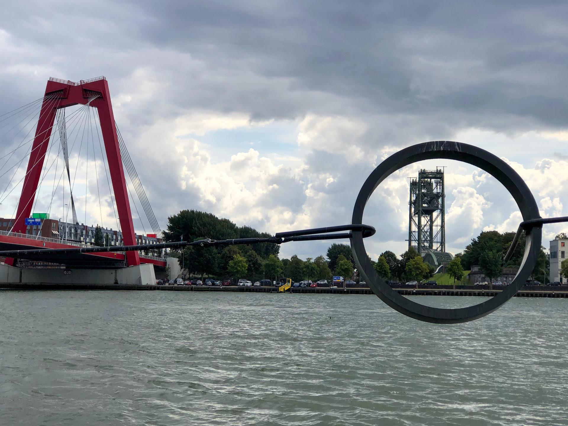 Die Brücke De Hef und die Willemsbrug in Rotterdam
