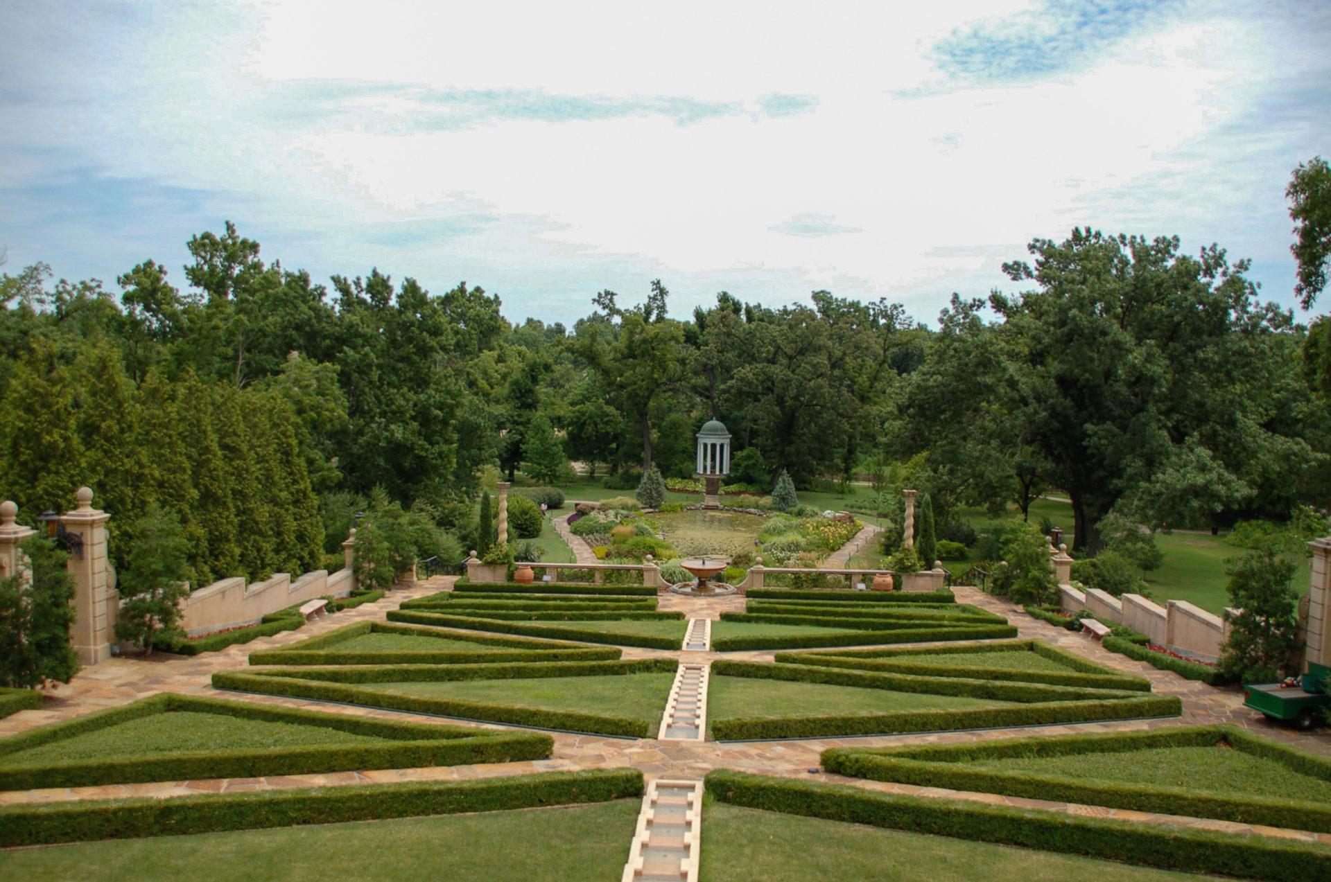 Die Gärten des Philbrook Museum in Tulsa.