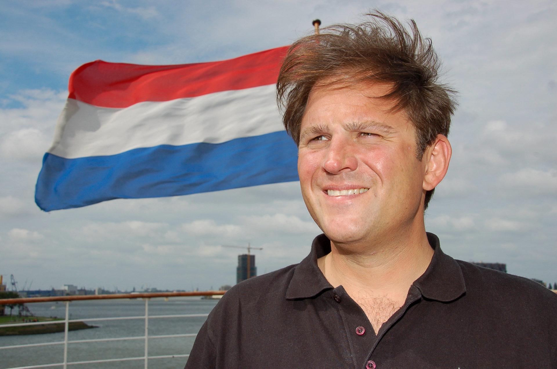 Autor Ralf Johnen auf der SS Rotterdam