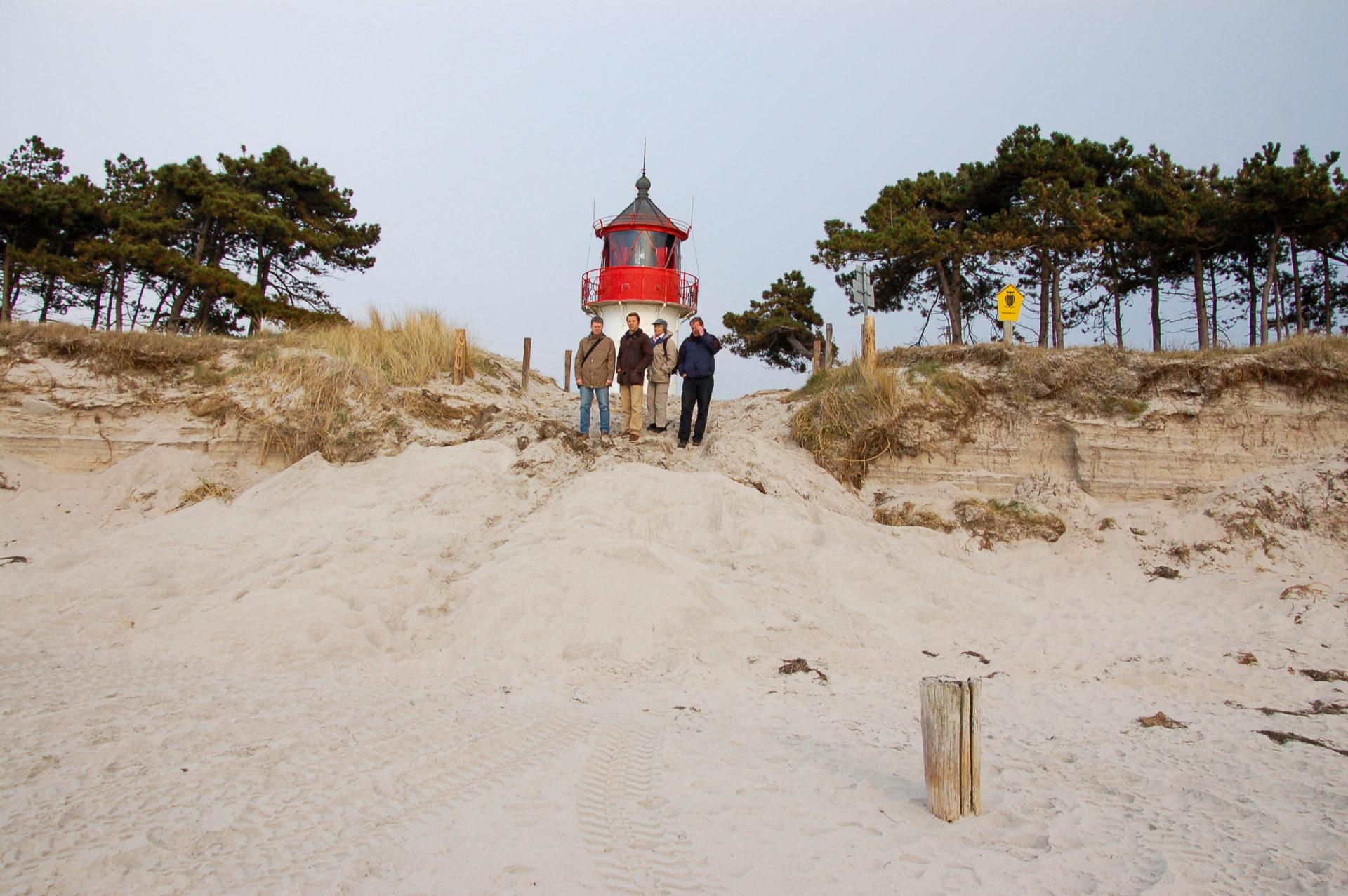 Leuchtturm an der Westküste himmlisch stilles Hiddensee