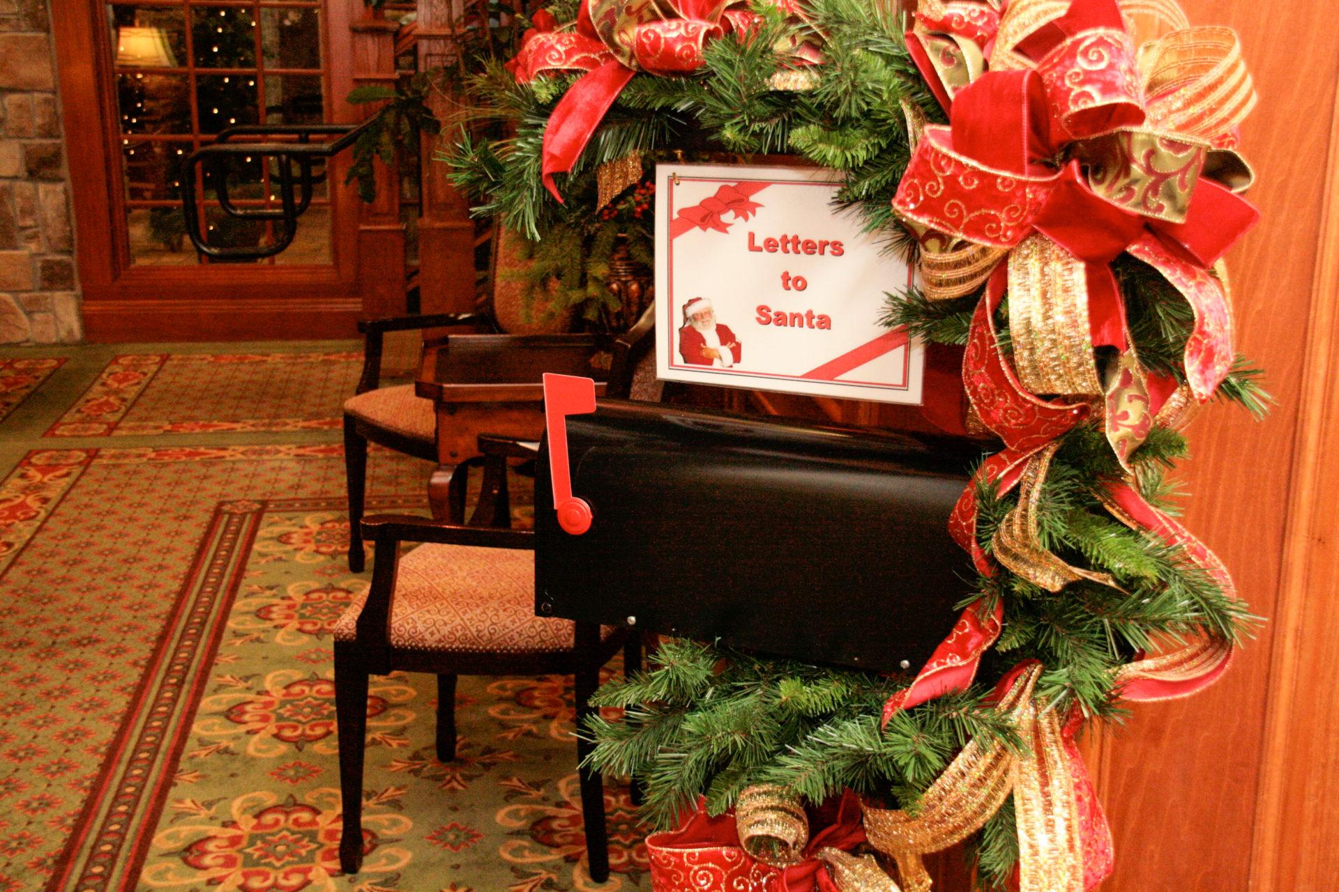 Ein Brief an den Weihnachtsmann? Ist im Preis des Inn at Christmas Place inbegriffen