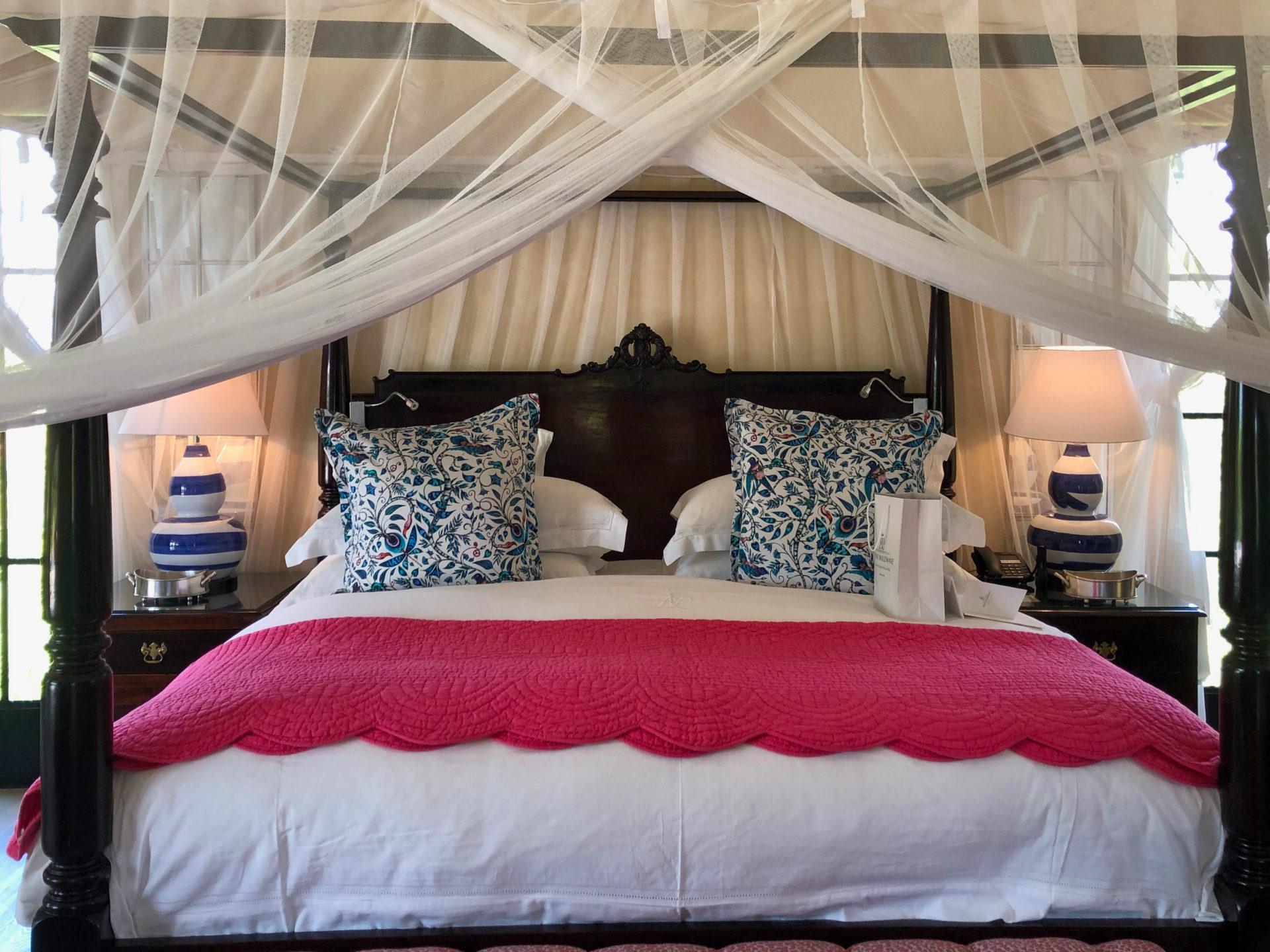 Himmelbett im Royal Malewane Resort in Südafrika